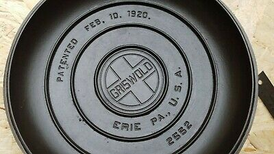 GRISWOLD , No.9 , TITE TOP DUTCH OVEN , pn. 2552 , COVER only