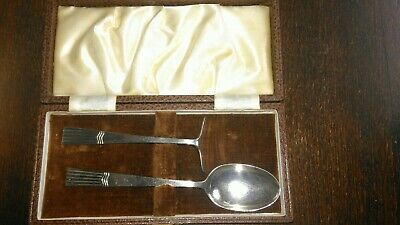 Silver Child's Spoon and Pusher