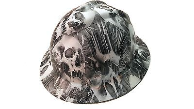Hydrographic Toxic Skull Msa V-guard Full Brim Hard Hat