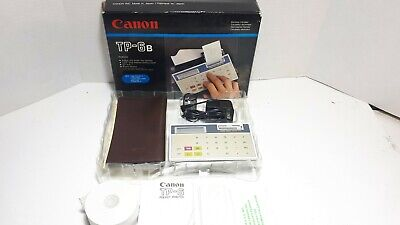 Canon TP-6B Pocket Printer Electronic Calculator
