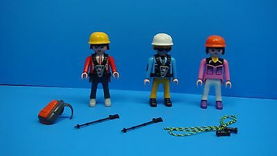 Playmobil adventure series 3 figures alpine mountain rappel mini toys 138