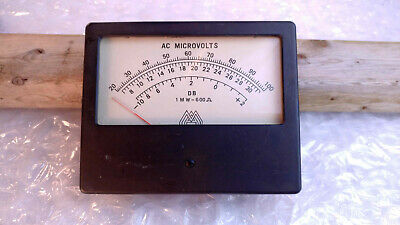 Simpson Ge Weston Ac Volts Db Dbm Panel Meters Usa Vintage Select Range