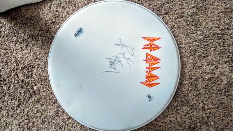 MAKE AN OFFER! Rick Allen Def Leppard Signed drum head