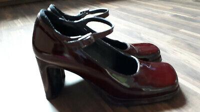 Schuhe Mary Jane 39 Lack weinrot edel Absatz Damen Schuhe High Heels bordeaux ()