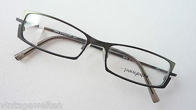 Schwarz-grüne Damenbrille Brillen-Gestell mit schmalen Gläsern günstig Grösse M