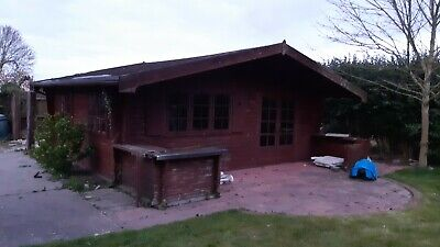 Log cabin. Used. Approx 6m x 5m. Garden Shed. Summer House. Office