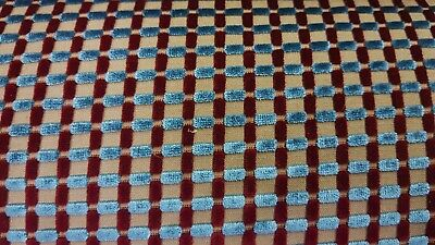 LEE JOFA  STRIPE  CHESS VELVET UPHOLSTERY FABRIC 5YDS