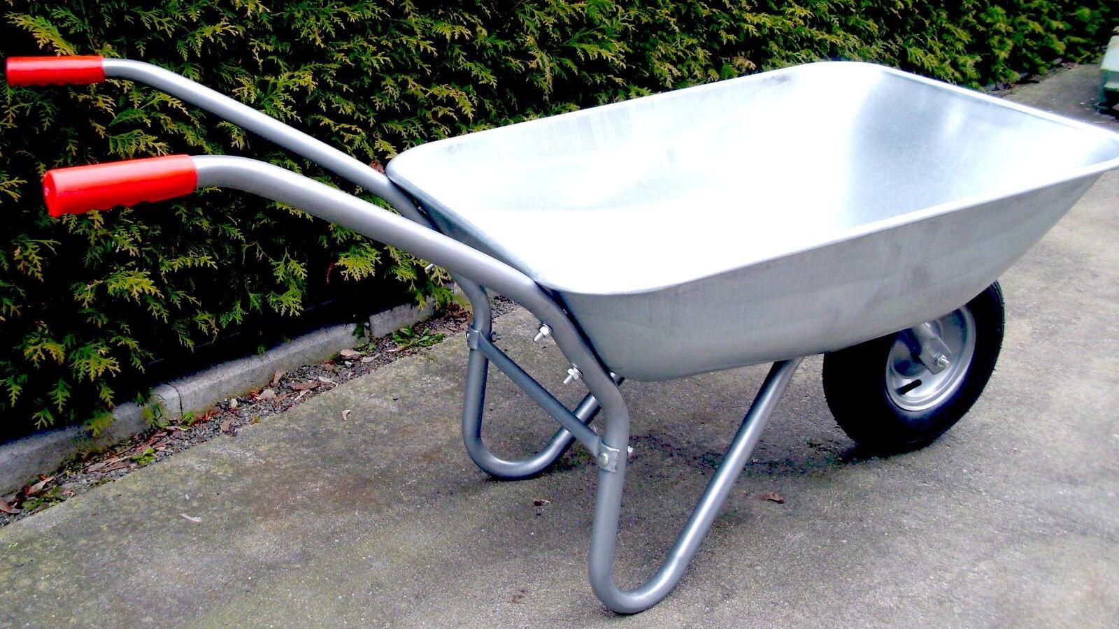 Bau und Garten Schubkarre,Luftbereift,stabil 80 l, bis 150 kg,verzinkt