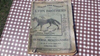 Lyon Brothers 1899 Merchandise Catalog Guns Clocks Watches Knives Pens Fashion