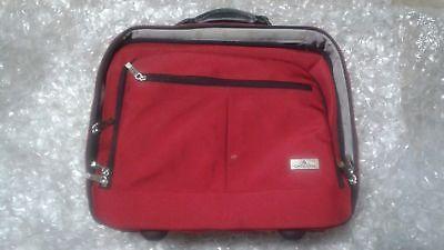 Samsonite Red Wheeled Portfolio Laptop Rolling Carry-On Briefcase Bag