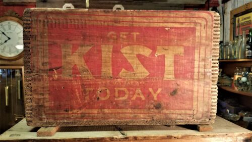 "Rare KIST Beverages Wooden Crate "" Get KIST Today"""