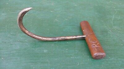 Vintage Log Pulp Hook 9 Logging With Wooden Handle