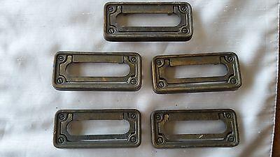 Lot of 5 rectangular drawer pull handles  ()