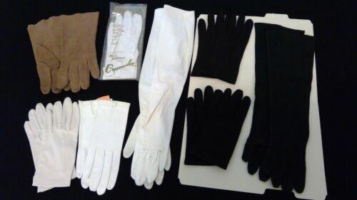 8 pr. Ladies Dress Gloves Assortment - fit size 7 1/2 - leather, suede, cloth