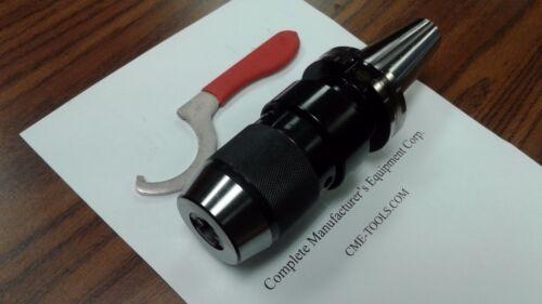 """5/8"""" CAT40 Ball Bearing Keyless Drill Chuck Integral shank design #DCK-CAT40-58"""