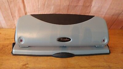 Swingline Acco 74063 Black Silver 12 Page 3 Hole Punch 932 Holes   R