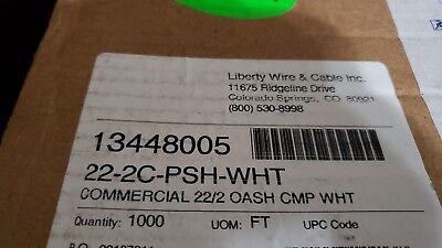 (Liberty AV Solutions 22-2C-PSH-WHT 1000ft Commercial 22/2 OASH CMP WHT (White))