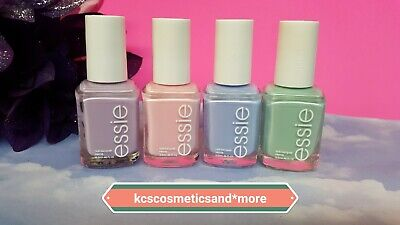 4 pc Essie Pastel Nail Polish Lot Set pink purple blue green +Avon File!🎁