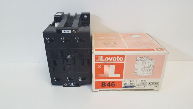 NEW OLD STOCK! LOVATO 90A 660V CONTACTOR TYPE B46 110/120V 50/60HZ COIL