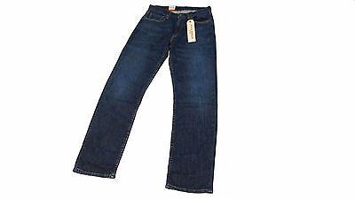 Genuine Mens Levis 514 Straight Leg Stretch Denim Jeans 32 X 32 Dark Wash NWT