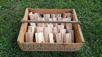 Organic Cherry Wood Chunks for smoking, bbq, grilling, tailgating NO BARK