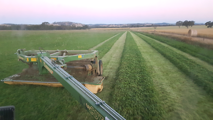 Contract Hay and Silage making-Mow, Rake, and Bale