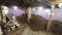 démolition et excavation de sous sol