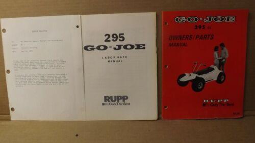Vtg Rupp GO-JO Go-Cart 295cc Owners & Parts  Manual & Misc