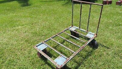 Antique - Railroad Cart - Great For Hit And Miss Motor Display