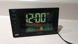 La Crosse Technology Color Dual Alarm Clock with USB Charging Port C87207