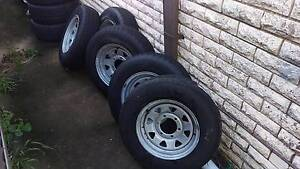 Galvanised Trailer wheels LC 6 stud. LT tyres LC 6 stud Bexley North Rockdale Area Preview
