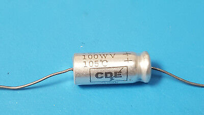 Capacitor 15uf 100v 20 Axial Cornell Dubilier Nlw15-100 Lot Of 3 Pcs