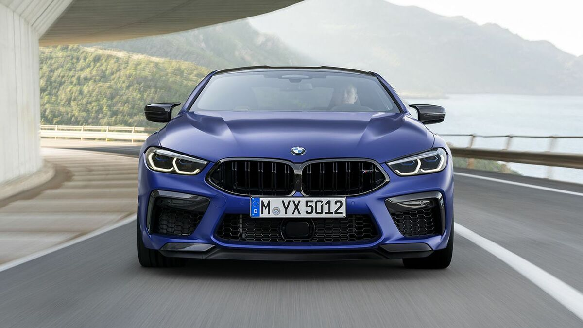BMW M8 Competition Coupé in der Frontansicht