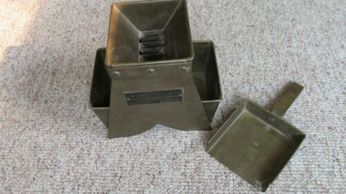 Brass Denver Fire Clay Marked Assay Sample Splitter-Brass Pans & Shovel-Assayers