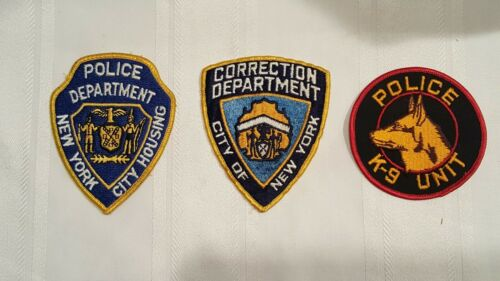 2 New York Police Patches & K-9 Unit Patch