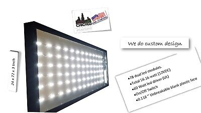 Outdoor Led Light Box Sign  24 X 72 X 3