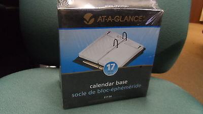 At-a-glance Loose-leaf Black Desk Calendar Base For 3.5 X 6 Pagelot Of 5