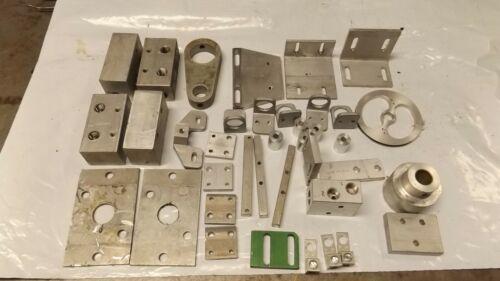 36 pieces of Aluminum Bracket, Angle, Flat Stock, Block, Guide, Mount