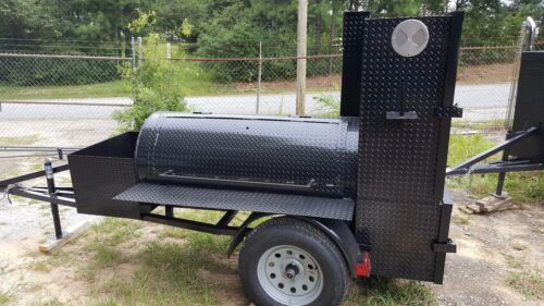 Start BBQ Business Reverse Smoker Grill Trailer w Blackstone Griddle Food Truck