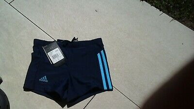 Badehose adidas blau mit 3 Streifen in türkis Jungen Kinder Gr 176