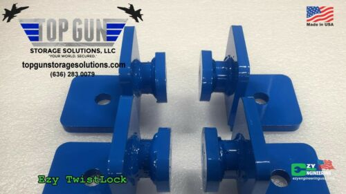 EZY Twist Lock Shipping Container anchors Made in USA Top Gun Storage Solutions
