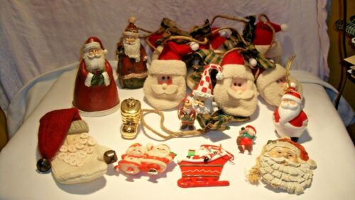 Santa Claus Themed Ornaments Garland and Figurines