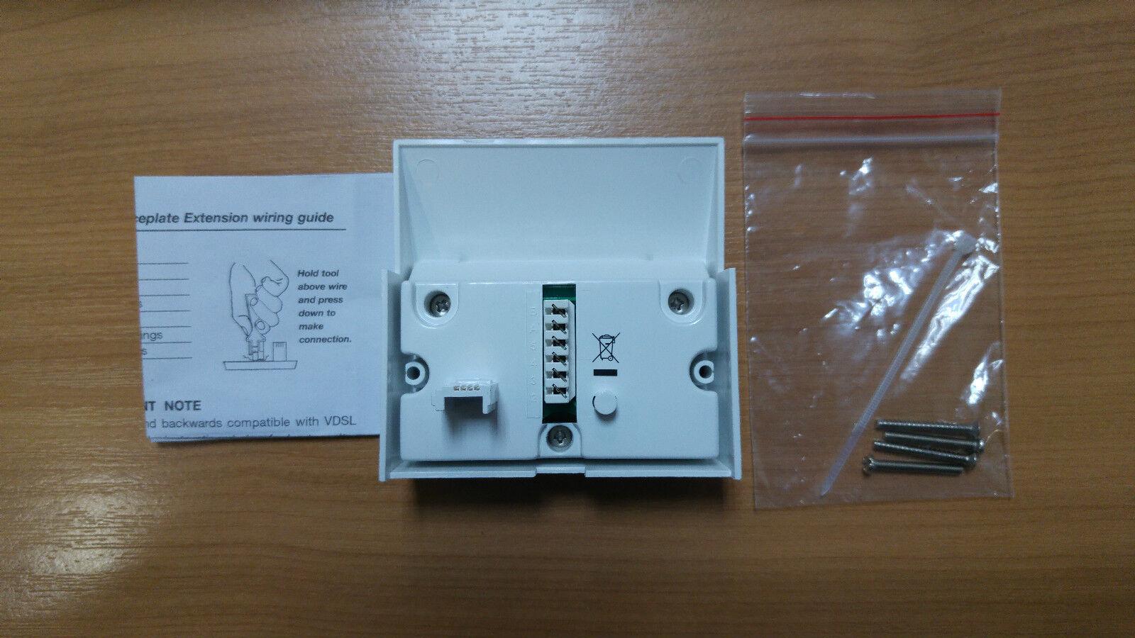 Plusnet Bt Vdsl2 High Speed Fibre Broadband Filter Cover 4 Nte5 Wiring Master Box 6 Of See More