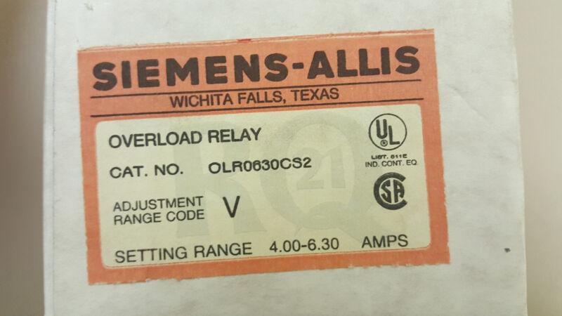 Siemens Allis OLR0630CS2 overload block / relay 4-6.3 amp