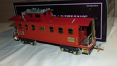 MTH IVES STANDARD GAUGE 10-2153 20-195 TWO TONE RED CABOOSE IN ORIGINAL BOX
