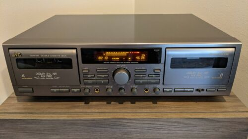 JVC TD-W709 Stereo Double Cassette Recorder / Player / Tested / Super Clean
