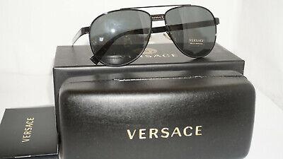 Versace New Sunglasses Aviator Black Gray VE2209 100987 58 140