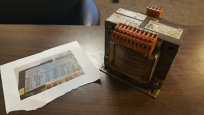 J. Schneider 1000/2500 VA Machine Transformer, EUED 1.3B-950617T5, WARRANTY