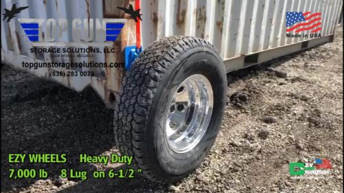 EZY WHEELS HEAVY DUTY Shipping Container Wheels.  8-LUG Made in USA Set Of Two