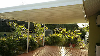 8 X 16 Wall Attached Flat Pan Aluminum .030 Patio Cover Kit